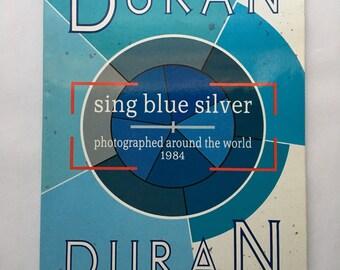 Vintage Duran Duran Sing Blue Silver Book