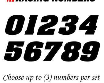 Racing Number Vinyl Decal dirt bike quad car # bmx competition 200