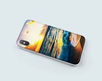 Ocean iPhone 8 Case, Soft iPhone 7 Plus Case, iPhone 6 Case Clear, iPhone X Case Clear, Gift For Her, Christmas Gift - KT045