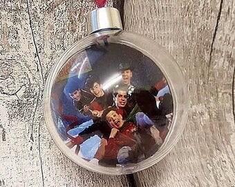 new kids on the block 90s 1990s group retro xmas tree Christmas tree bauble decoration xmas handmade