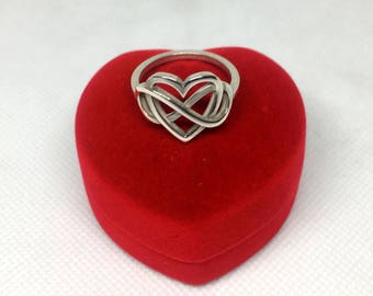Ring Silver 925 infinity & heart