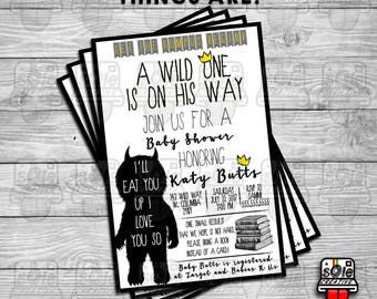 Where The Wild Things Are - Baby Shower Invitations! (Can Be Modified for Birthdays!)