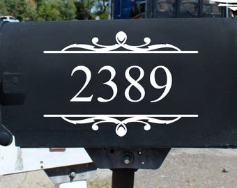 custom mailbox decal, vinyl numbers, Mailbox decal, Mailbox decal Numbers, Mailbox Address, Custom Personalized Address Street Name decal
