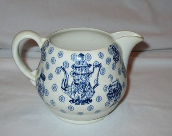 Blue and White Royal Staffordshire China Cabinet Creamer