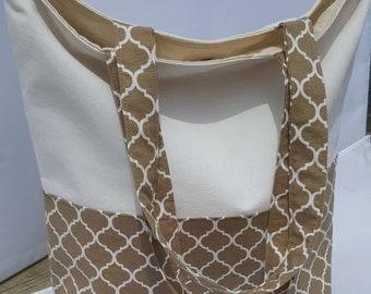 Tote bag/ cotton bag/ market bag/ beach bag/ gift for her/day bag/book bag/ library bag/