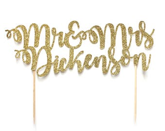 Personalised Mr and Mrs Wedding Cake Topper ~ Last Name Cake Topper ~ Mr and Mr Cake Topper ~ Mrs and Mrs Cake Topper ~ Custom Weddingtopper