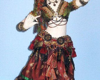 AB513E - Belly Dancer  Costume Sewing Pattern
