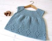 Crochet Winnie Dress Written Pattern - Little Girl's Crochet Diamond Top / Tunic / Dress Pattern