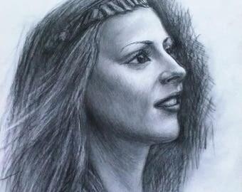 Portrait to order. pencil,charcoal,chalk,sanguine,Sepia