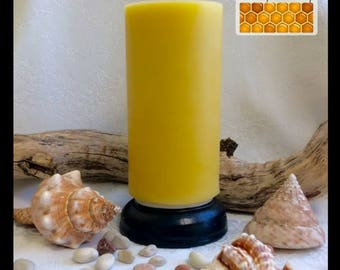 Pure Beeswax Candle - Tall Pillar - homemade candle, made with natural beeswax