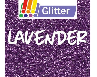 Siser Glitter Heat Transfer Vinyl - Iron On - HTV -  Lavender