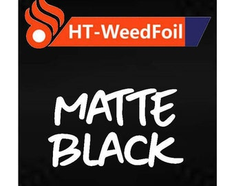 HT WeedFoil Heat Transfer Vinyl - Iron On - HTV - Matte Black Foil