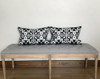 Pendleton pillow cover, balck and white wool home dec pillows, throw pillows, black and white pillows
