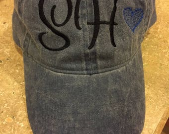 Embroidered Monogrammed Hat
