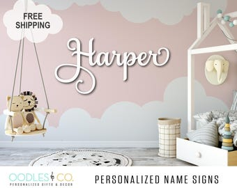 Name Sign for Nursery | Name Sign for Kids | Name Sign Wood | Nursery Name Sign |Nursery Name Sign Girl | Nursery Name Sign Boy |  DS04