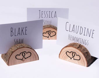 rustic wooden place card holders 20 small place card holders wooden seating card