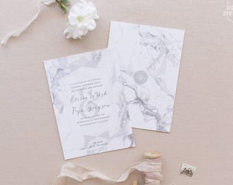 modern marble wedding invitations printable wedding invitation modern wedding invitation marble save the - Modern Wedding Invites