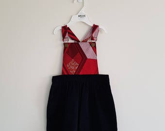 READY TO SHIP - Pepperberry Girls Pinafore - Toddler Dress - Girl Toddler Dress - Girls Clothing - Overall Dress - Size 2