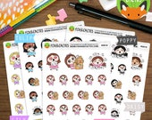 Happy Mail Kawaii Girls - Etsy Order Mail Day Online Shopping Delivery - Planner Stickers (K0018)