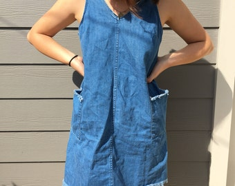 Blue Jean Fringe Dress
