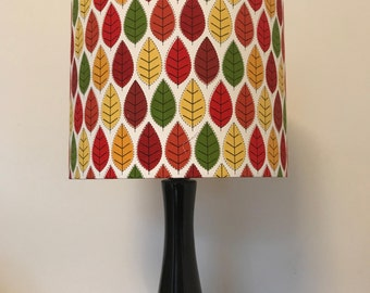 colourful geometric leaf pattered lampshade