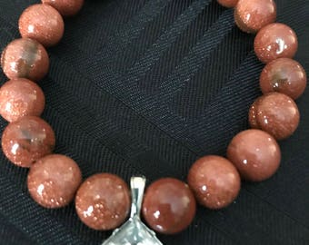 Sandstone Charm Stretch Bracelet