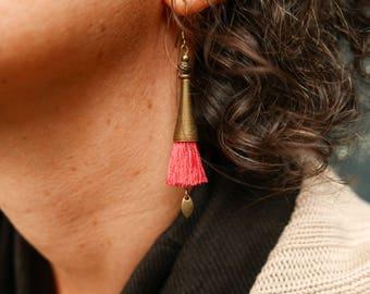 Earrings for women, Boho dangle earrings, Christmas gift for her, Women boho gift, Mom gift, Wife gift, Tassel earrings, Womens gift