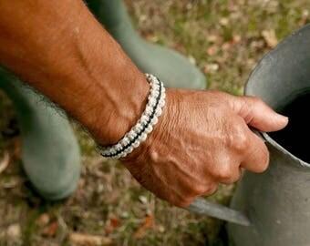 Casual bracelet for men gift, Hemp rope macrame bracelet for boyfriend gift, Vegan gift for men, Cool husband gift