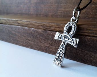 Anhk necklace, Silver Ankh Pendant, Egypt Jewelry, Key of life, mens ankh, anhk Mens Necklace, Egyptian Necklace anhk, protection amulet