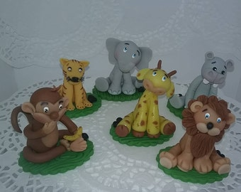 Elephant  Decoration, Jungle Safari  cake toppers