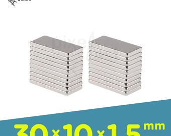 20 Pack - Neodymium Magnets -  30mm x 10mm x 1.5mm Diameter - Craft Magnets Super Strong Skinny Magnets