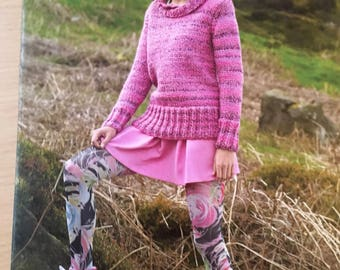 Ladies Roll Neck Jumper Knitting Pattern, Stylecraft Knitting Pattern, Ladies Chunky Sweater, Ladies Long Sleeve Jumper, Stylecraft No. 8664