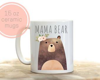 Mama Bear Mug, Mama Bear Gift, Gift For New Mom, New Mom Gift, Maternity Gift, Bear Mug, First Mother's Day Gift, Mother's Day Gift New Mom