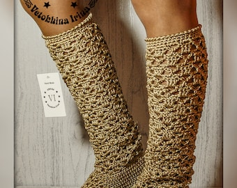 High-high summer boots/ Boots are female/ Footwear to order/ Summer Boots/ Women's boots/ knitted Boots/ Summer crocheted Boots/ lace Boots