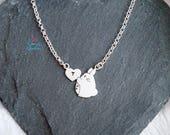 Totoro collar / Totoro studio ghibli collar / totoro collar plata / totoro personaje pelicula collar / totoro personalizado inicial corazón