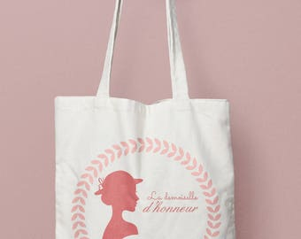 Tote Bag personalized bridesmaid jewelry - romantic, tote bag bridesmaid tote bag bridesmaid