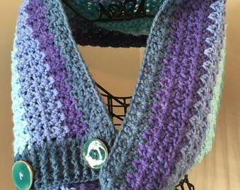 Easy Crochet Cowl Scarf