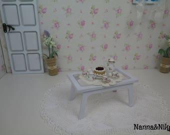 Tavolino bianco in legno per Blythe
