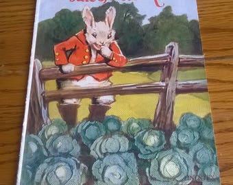 TheTALE Of PETER RABBIT, 1928, Saalfield Publishing Co, Ohio, Linentex, ,Vintage & Rare Children's Book, Antique, Very Good!