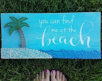 You can find me at the beach String Art *Made-to-Order*