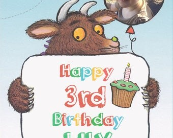 The Gruffalo photo personalised Birthday Greetings card with free envelope and postage!