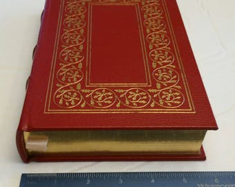 antique illustrated book - kenilworth hc leather gold accents 22k by sir walter scott - romance novel 1966 - easton press