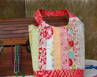 Market bag, Quilted bag, Quilted purse, Orange Purse, Orange bag
