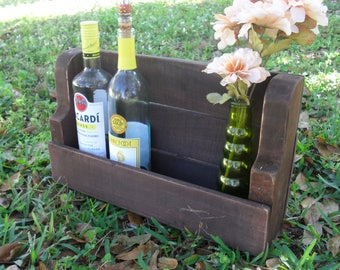 Handmade Reclaimed Wood Wall Wine Rack Display Kitchen Bar Rustic Country Primitive Farmhouse Cottage Decor
