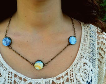 Themed necklace * starry * of Van Gogh