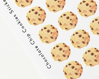 Chocolate Chip Cookies Stickers, Planner decoration stickers,