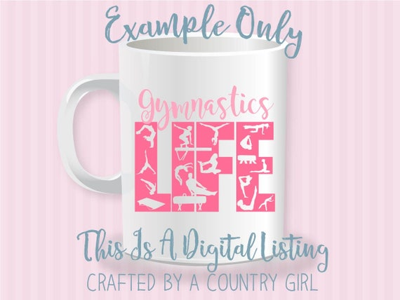 Gymnastics Svg Svg Girl Vinyl Cut File Digital File Silhouette