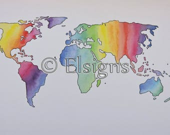 Rainbow Watercolor World