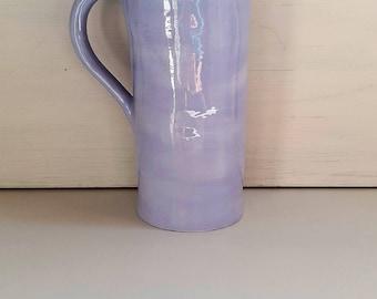 Pitcher Vase ceramic handmade, Blue Lake, stamped / / gift MOM / / gift dad ceramic Carafe, pitcher, blue, blue pitcher