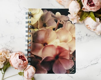 Personalized Custom Notebook, Floral Journal, Gardener Gifts For Men